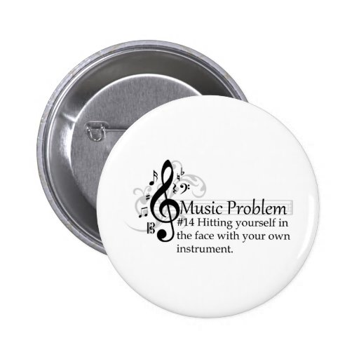 Hitting yourself in the face pinback buttons