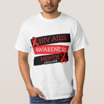 HIV AIDS AWARENESS MONTH December  Button Shirt
