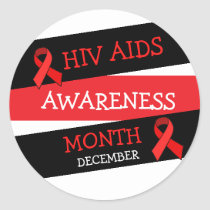 HIV AIDS AWARENESS MONTH December Stickers