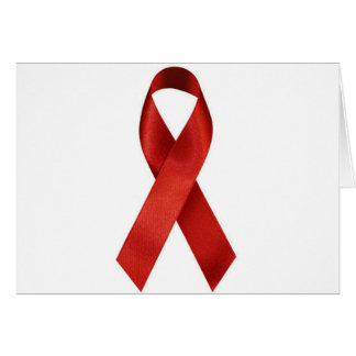 HIV/AIDS Awareness Red Ribbon Card