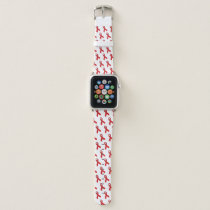HIV AIDS awareness Ribbon RED Color Apple Watch Band