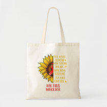 Hiv Aids Awareness Sunflower You Never Know Tote Bag
