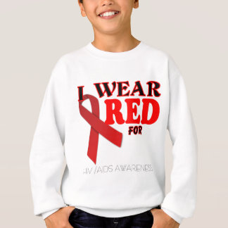 HIV AIDS AWARENESS TEMPLATE .png Sweatshirt