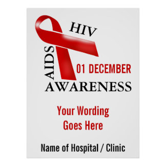 Hiv aids campaign awareness   Personalize Poster
