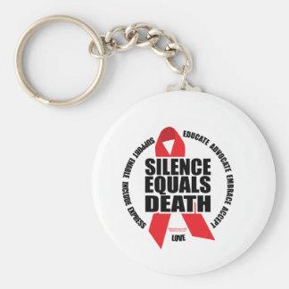 HIV/AIDS: El silencio iguala muerte Llavero Redondo Tipo Pin