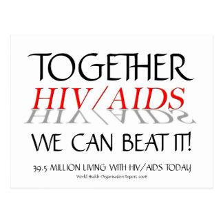 ¡HIV/AIDS juntos podemos batirlo! postal del  