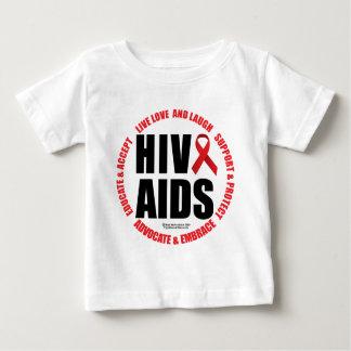 HIV/AIDS Live Love Laugh Baby T-Shirt
