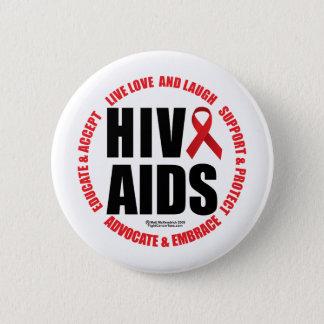 HIV/AIDS Live Love Laugh Button