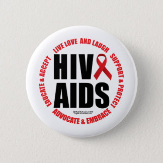 HIV/AIDS Live Love Laugh Button