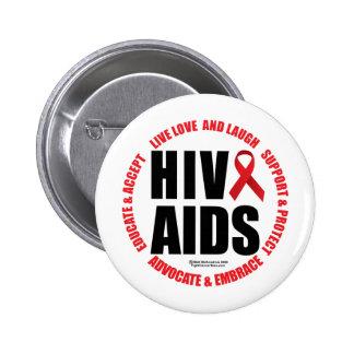 HIV AIDS Live Love Laugh Pin