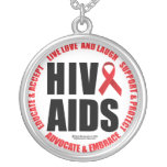 HIV/AIDS Live Love Laugh Custom Necklace