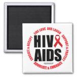 HIV/AIDS Live Love Laugh Fridge Magnet