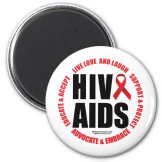 HIV/AIDS Live Love Laugh Magnet