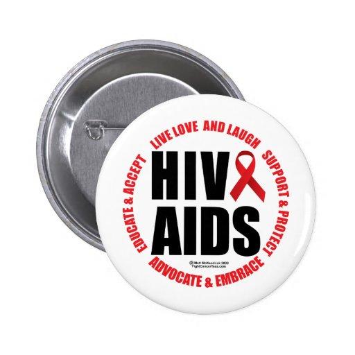 HIV/AIDS Live Love Laugh Pin