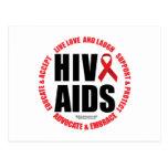 HIV/AIDS Live Love Laugh Postcard
