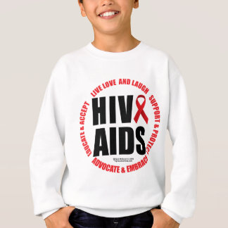 HIV/AIDS Live Love Laugh Sweatshirt
