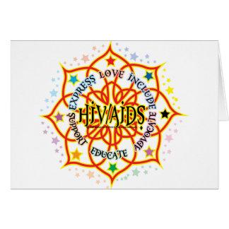 HIV/AIDS Lotus Tarjeta De Felicitación