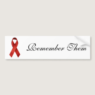 HIV/AIDS Red Ribbon Bumper Sticker