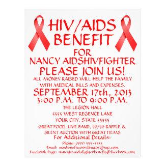 HIV AIDS Ribbon Benefit Flyer