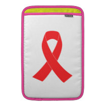 HIV AIDS Ribbon Cancer Awareness MacBook Sleeve