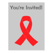 HIV AIDS Ribbon Cancer Awareness Postcard