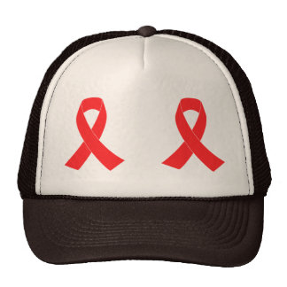 HIV AIDS Ribbon Cancer Awareness Trucker Hat