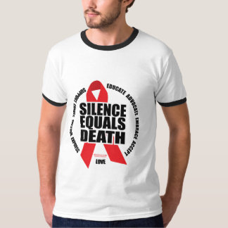 HIV/AIDS: Silence Equals Death T-Shirt