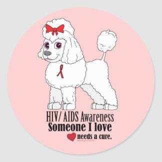 HIV/AiDS: Someone I Love Needs a Cure Classic Round Sticker