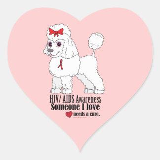 HIV/AiDS: Someone I Love Needs a Cure Heart Sticker