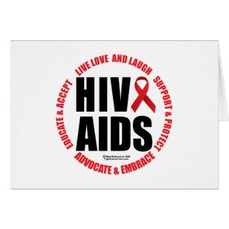 HIV/AIDS viven risa del amor Tarjeta De Felicitación