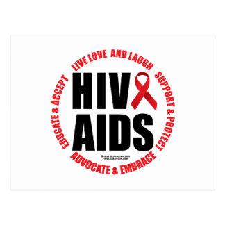 HIV/AIDS viven risa del amor Tarjetas Postales