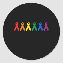 HIV AWARENESS / AIDS AWARENESS CLASSIC ROUND STICKER