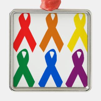 HIV AWARENESS / AIDS AWARENESS METAL ORNAMENT