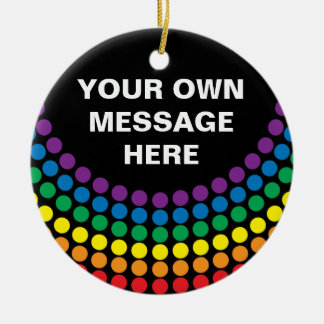 HIV AWARENESS / AIDS AWARENESS Double-Sided CERAMIC ROUND CHRISTMAS ORNAMENT