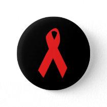 HIV AWARENESS / AIDS RIBBON PINBACK BUTTON