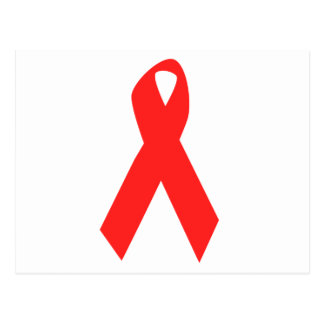 HIV AWARENESS / AIDS RIBBON POSTCARD