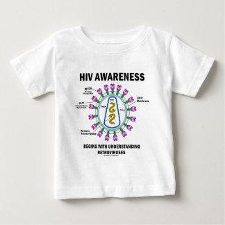 HIV Awareness Begins Understanding Retroviruses Baby T-Shirt