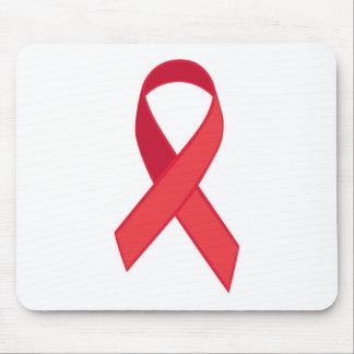 HIV Awareness - Red Ribbon Mouse Pad