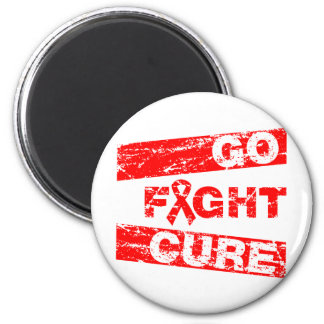 HIV Go Fight Cure Refrigerator Magnet