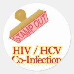 HIV -  HCV Co-Infection Round Sticker
