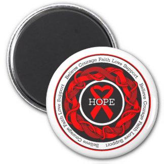 HIV Hope Intertwined Ribbon Refrigerator Magnet