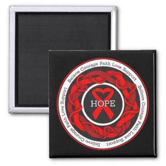 HIV Hope Intertwined Ribbon Fridge Magnets