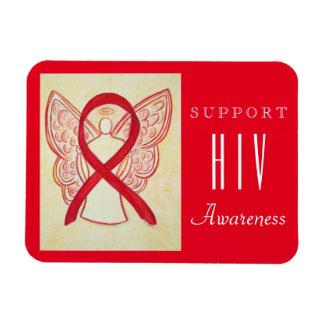 HIV Red Awareness Ribbon Angel Custom Gift Magnet