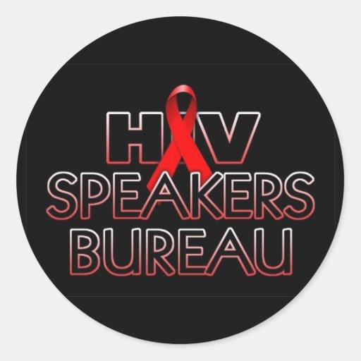 HIV-Speakers-Bureau-x800bk Etiqueta Redonda