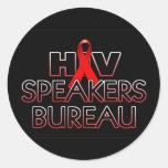 HIV-Speakers-Bureau-x800bk Pegatinas Redondas