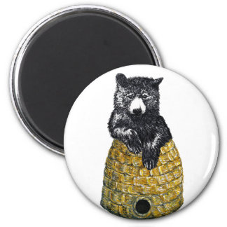 hive bear 2 inch round magnet