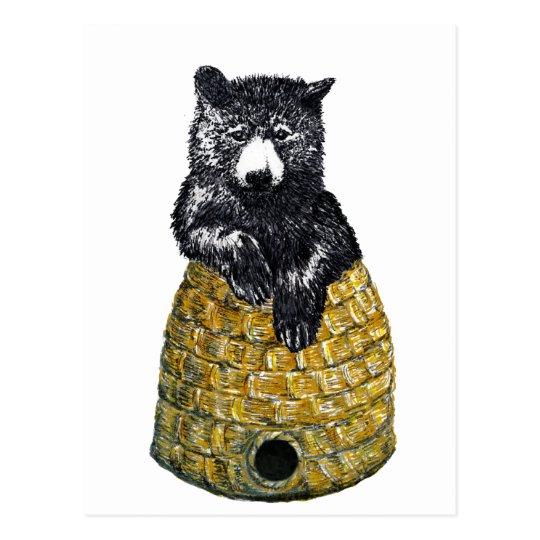 hive bear postcard
