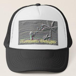 Hiwalani Designs Embossed Trucker Hat