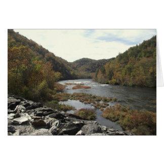 Hiwassee River at Appalachia Powerhouse Stationery Note Card