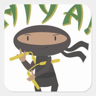 Hiya Ninja Square Sticker